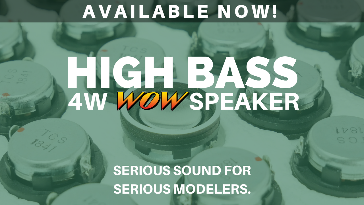 WOWSpeaker high bass 4 watt speaker model trains